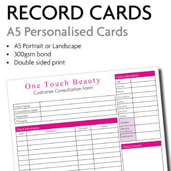 A5 consultation cards