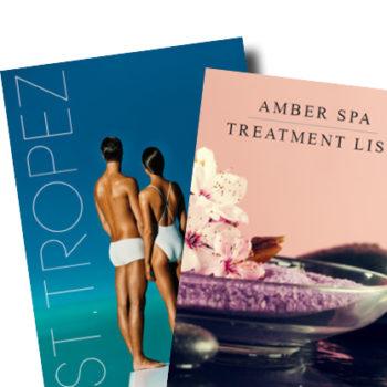 laminated treatment menu