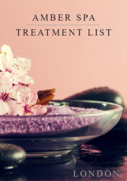 Beauty salon and spa Laminated Treatment Menu